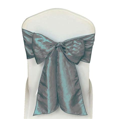 10 x silver satin wedding chair sash 280x16cm tie bow ties