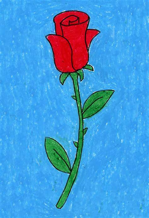 draw  rose art projects  kids