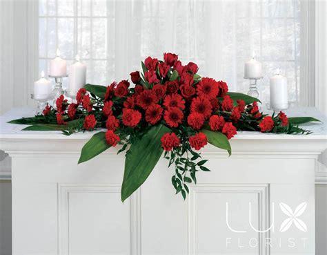 large altar flower arrangements red roses find  save