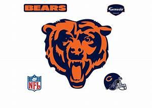 Chicago Bears Bear Head Logo Wall Decal Shop Fathead