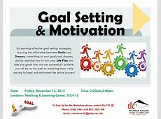 Goal Setting & Motivation Workshop – Events Calendar