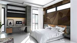 industrial bedroom wall texture Interior Design Ideas