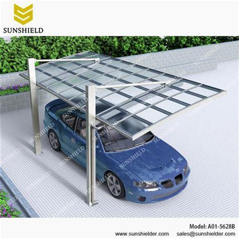 metal canopy aluminum shelters cantilever car port for 1 car