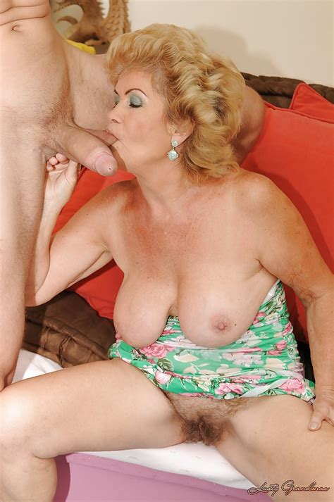 Busty Granny Gives A Blowjob And Gets Her Hairy Cunt