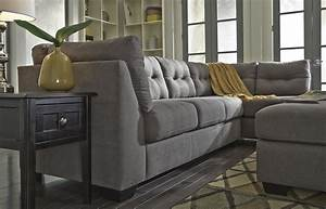 benchcraft maier charcoal 2 piece sectional with right With corey collection 2 piece sectional sofa with chaise