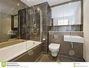 Stanza da bagno di lusso fotografia stock Immagine di brown 12811532