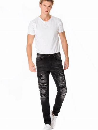 Ripped Leftover Pant Jeans China Latest Biker