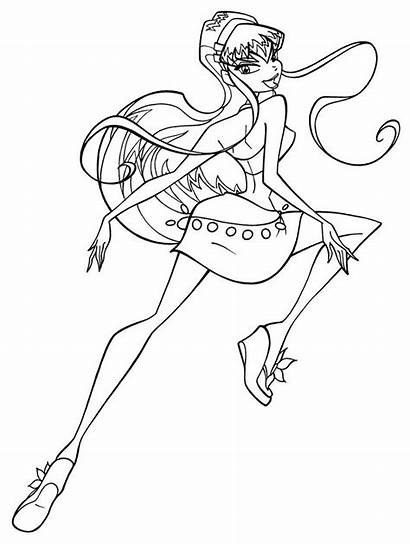 Winx Coloring Club Pages Roxy Printable