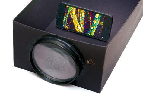 build  cheapo photo projector   phone shoebox