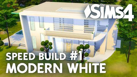 Sims 4 Moderne Häuser Bauen Anleitung by Haus Bauen Die Sims 4 Modern White Speed Build 1 Mit