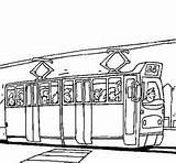 Tram Coloring Ausmalbilder Able Vehicles Own Game Passengers Kleurplaat Oude Kleurplaten Ausdrucken sketch template
