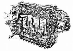 Vanwall Engine Cutaway  Vic Berris