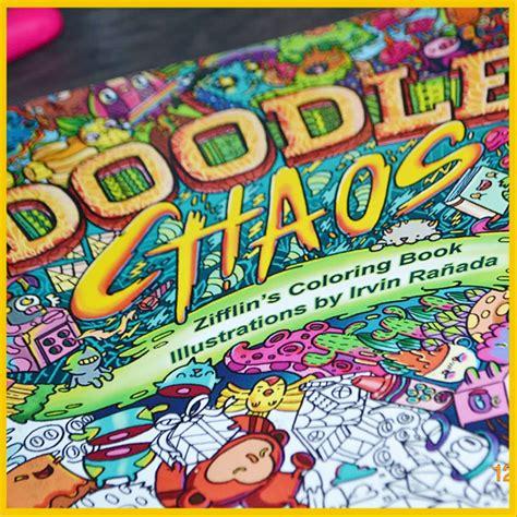 jual doodle chaos coloring book doodle chaos zifflins