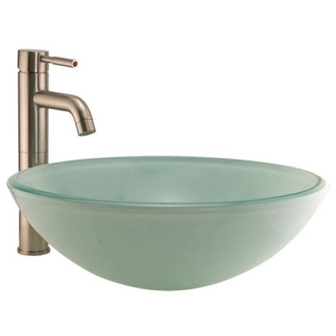 glass sink tea green glass vessel sink bathroom