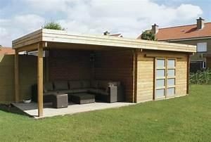 Chalet Bois Toit Plat : chalet de jardin toit plat abri de jardin et balancoire id e ~ Melissatoandfro.com Idées de Décoration