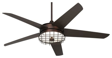 60 quot possini edge ii rubbed bronze ceiling fan industriel ventilateur de plafond