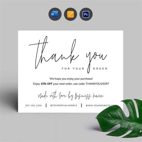 Pin oleh diymydesign | Editable Busines di Thank U Cards ...