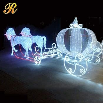led cinderella pumpkin horse carriage  christmas