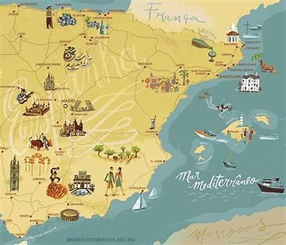 Brasil Mapa Espanha Da Consulado Mapas Br