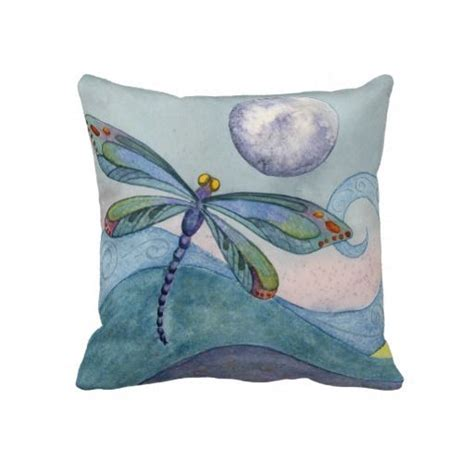 dragonfly and the full moon throw pillow art pinterest