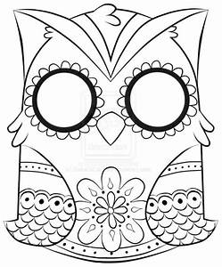 Abstract owl coloring pages printable - ColoringStar