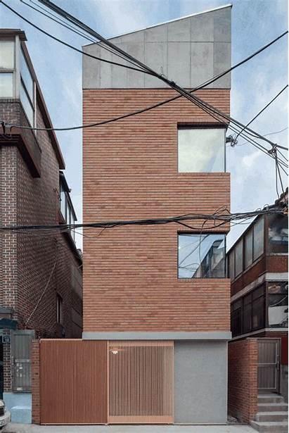 Fhhh Friends Narrow Architecture Casas Brick Casa