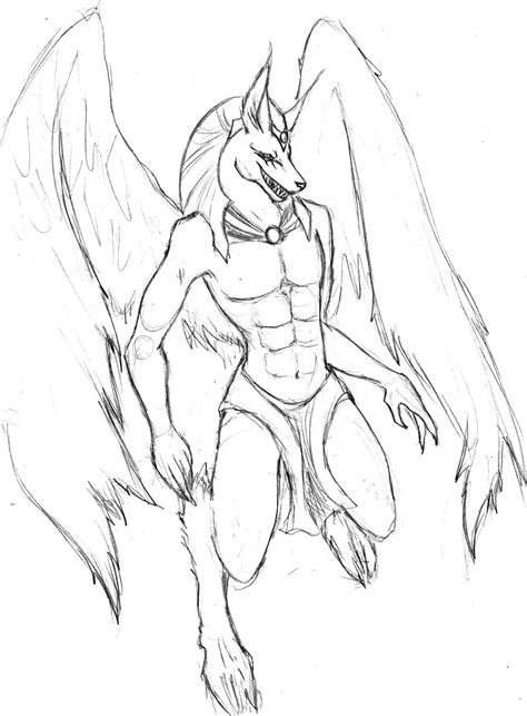 The Gallery For Egyptian God Anubis Drawing