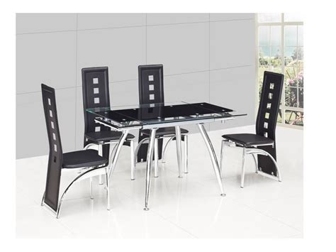 small black dining table set small black extending glass dining table and 4 black chairs