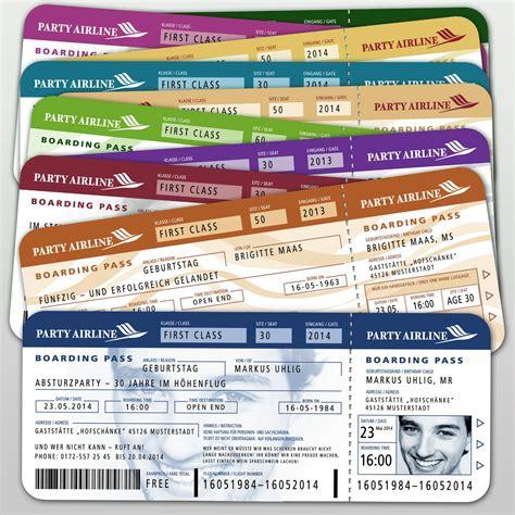 einladungskarten geburtstag flugticket ticket boarding