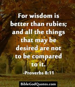 Bible Quotes On Wisdom