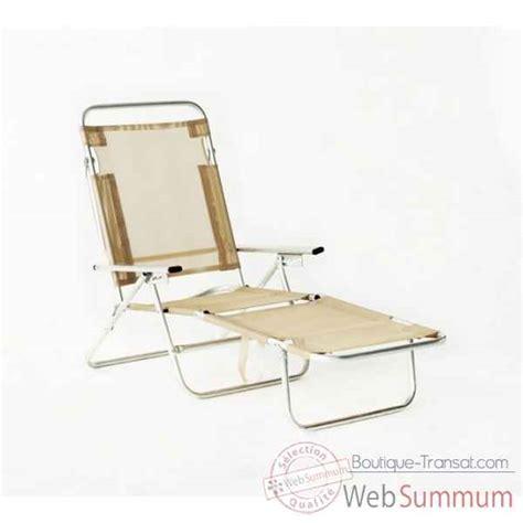 chaise longue plage pliable achat de beige sur boutique transat