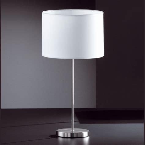 modern elegante tischlampe mattnickel