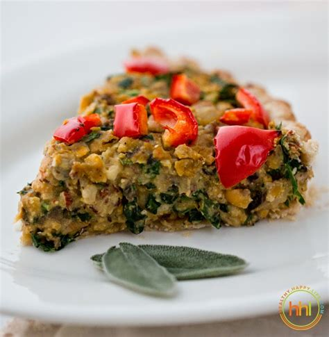 Vegan Holiday Main Dish Mushroomchickpeahazelnut Tart