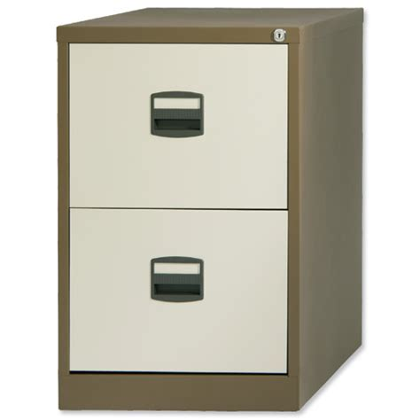 trexus by bisley 2 drawer foolscap filing cabinet coffee