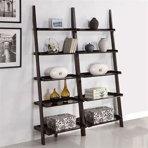 leaning bookshelf elegant ladder bookcases home