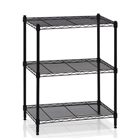 3 Tier Wire Shelving Rack Shelf Unit Garage Kitchen