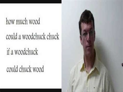 How Much Wood Could A Wood Chuck  English Tongue Twister