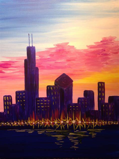 sunset city pinots palette painting