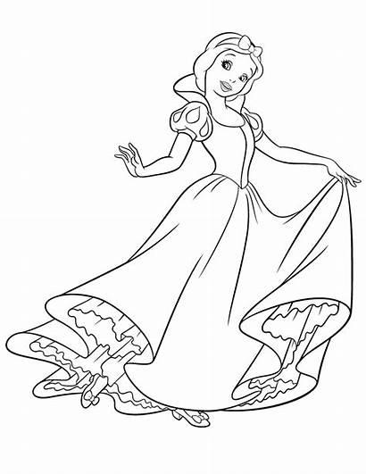 Snow Coloring Disney Princess Pages Pretty Outline