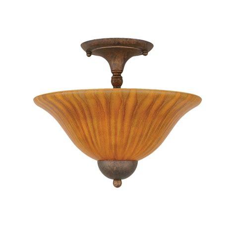 filament design concord  light bronze ceiling semi flush