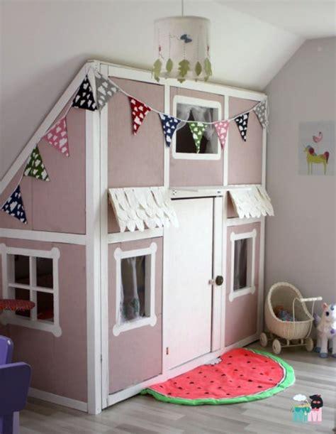kinderzimmer ideen für kleine zimmer diy ein hausbett im kinderzimmer chellisrainbowroom mit funktion handmade kultur