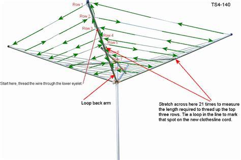 umbrella clothesline rewire