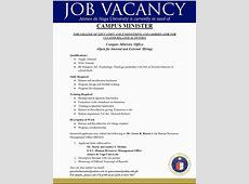 Job Vacancy January 2016 Ateneo de Naga University
