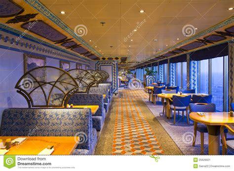 un r 233 fectoire de luxe 233 l 233 gant dans le bateau de croisi 232 re image stock image 25626921