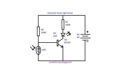 world  circuits automatic street light circuit