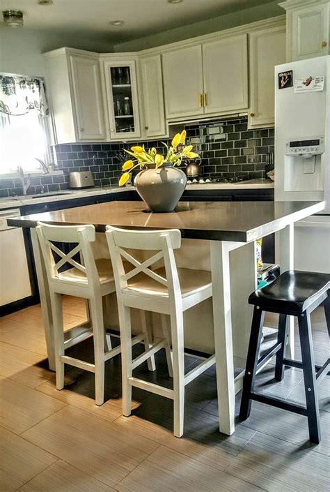 ikea stenstorp kitchen island ikea stenstorp kitchen island hack we added grey quartz