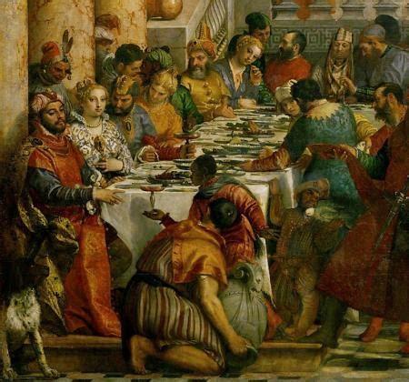 grandi banchetti servire  tavola nel rinascimento ieri
