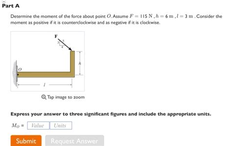 solved part a determine the moment of the about poi chegg