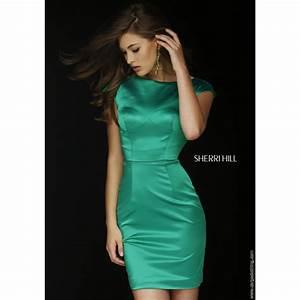 32295 Sherri Hill cocktail dress in Emerald green at Cargo ...