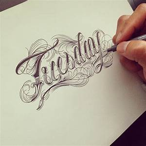 Calligraphy Tattoo Lettering Pictures to Pin on Pinterest ...
